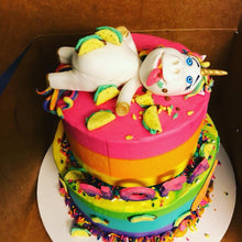 Load image into Gallery viewer, Fondant Chubbie Unicorn Cake Kit