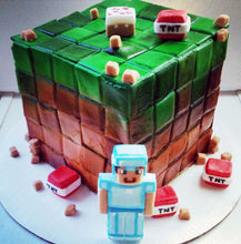 Load image into Gallery viewer, Minecraft Fondant Cake Decorations
