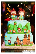 Load image into Gallery viewer, Scribblenauts Inspired Gumpaste Cake Toppers