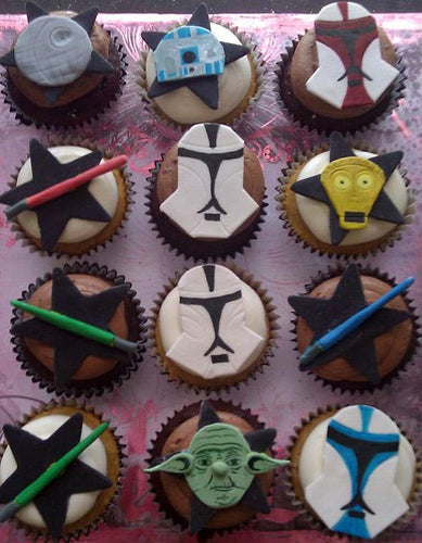 Star Wars Inspired Fondant Gumpaste Cupcake Toppers