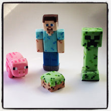 Load image into Gallery viewer, Minecraft Cake Toppers