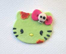 Load image into Gallery viewer, Zombie Hello Kitty Inspired Cupcake Topper