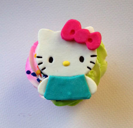 Hello Kitty Inspired Fondant Cupcake Toppers