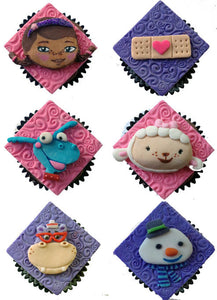 Doc McStuffins Inspired Cupcake Toppers