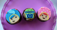 Load image into Gallery viewer, Team Umizoomi Inspired Cupcake Toppers