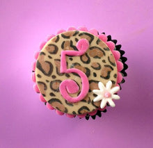 Load image into Gallery viewer, Leopard Print Cupcake Topper
