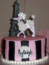 Load image into Gallery viewer, Poodles in Paris Fondant Cake Topper