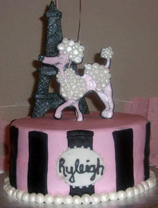 Poodles in Paris Fondant Cake Topper