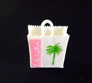 Lilly Pulitzer inspired shopping bag Cake Topper