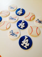 Load image into Gallery viewer, Customizable Baseball Team Cupcake Toppers