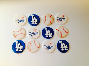 Customizable Baseball Team Cupcake Toppers