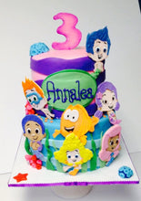Load image into Gallery viewer, Bubble Guppies Fondant Cake Toppers