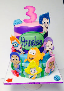 Bubble Guppies Fondant Cake Toppers