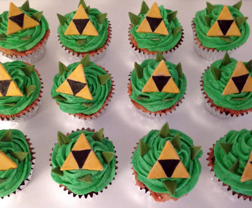 Zelda Triforce Cupcake Toppers