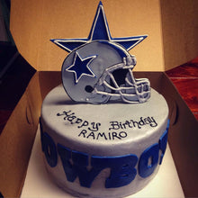 Load image into Gallery viewer, Customizable Fondant Football Cake Toppers