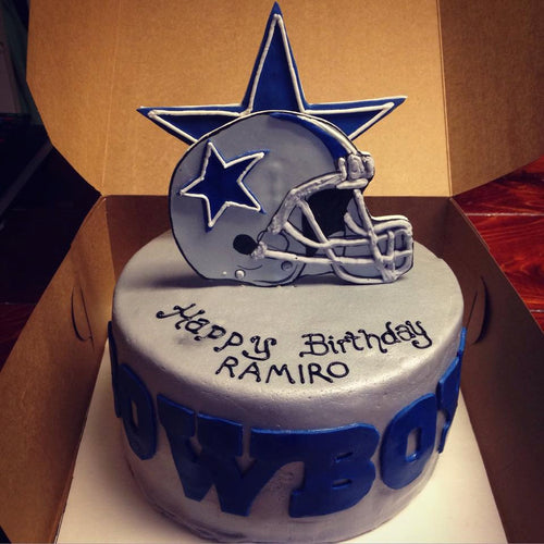 Customizable Fondant Football Cake Toppers