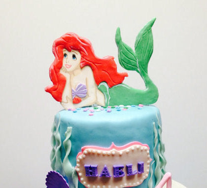 Little Mermaid Ariel Cake Topper