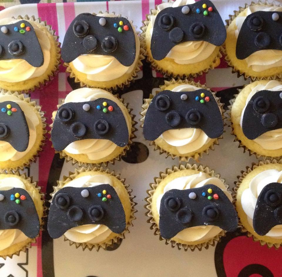 Xbox Controller Cupcake Toppers