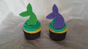 Fondant Mermaid Cupcake Toppers