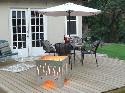 The FireCube on a deck