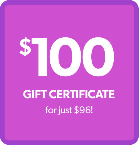 $100 Gift Certificate - for ONLY $95