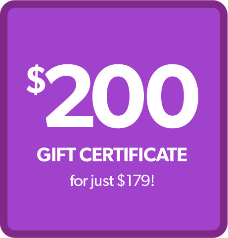 $200 Gift Certificate - for ONLY $179