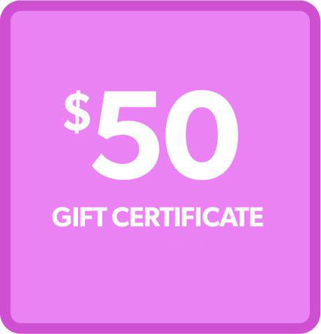 $50 Gift Certificate - for ONLY $45