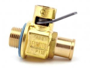 "Fumoto FG2NS: STUB NIPPLE (5/8"" O.D.) VALVE WITH 18MM-1.5 THREADS"