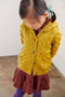 Popcorn hooded cardigan