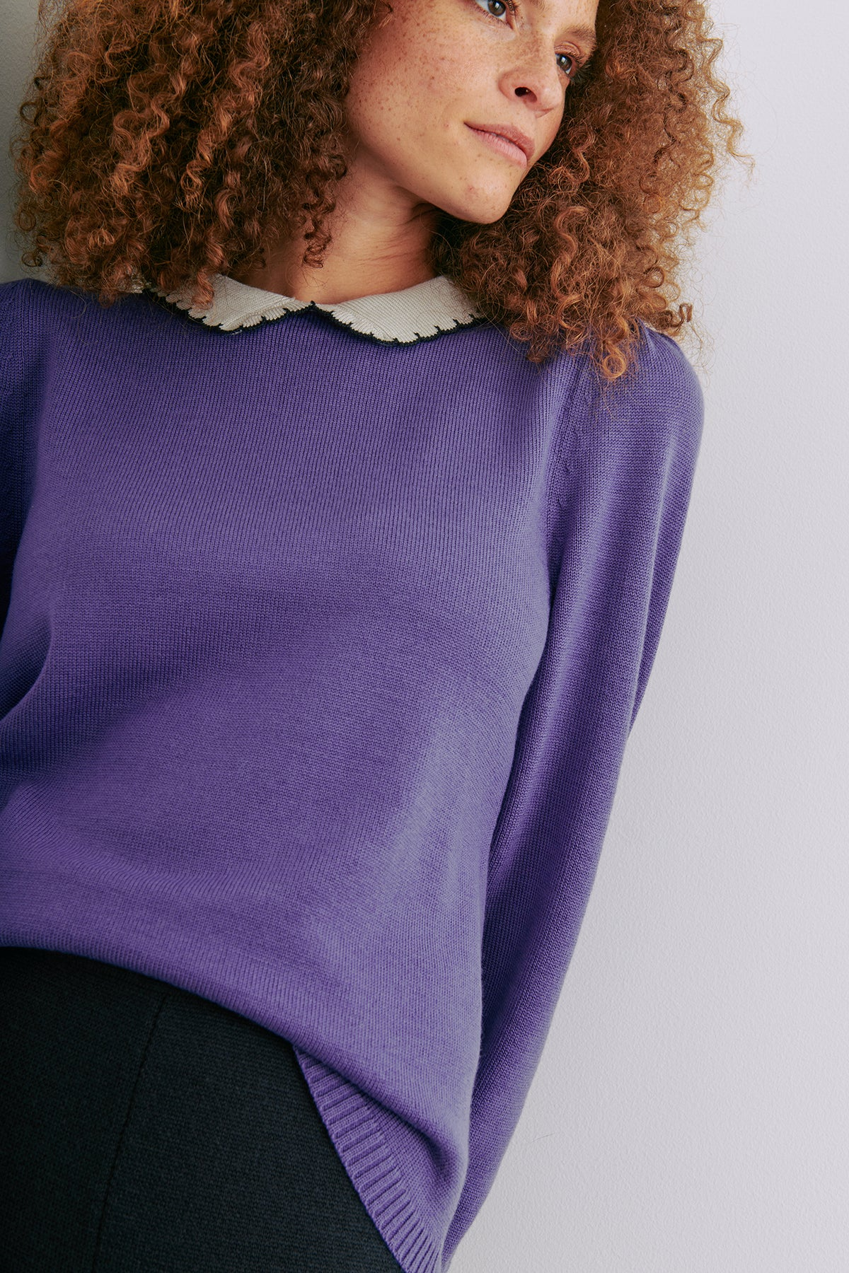 Adult Joanne Collar Sweater