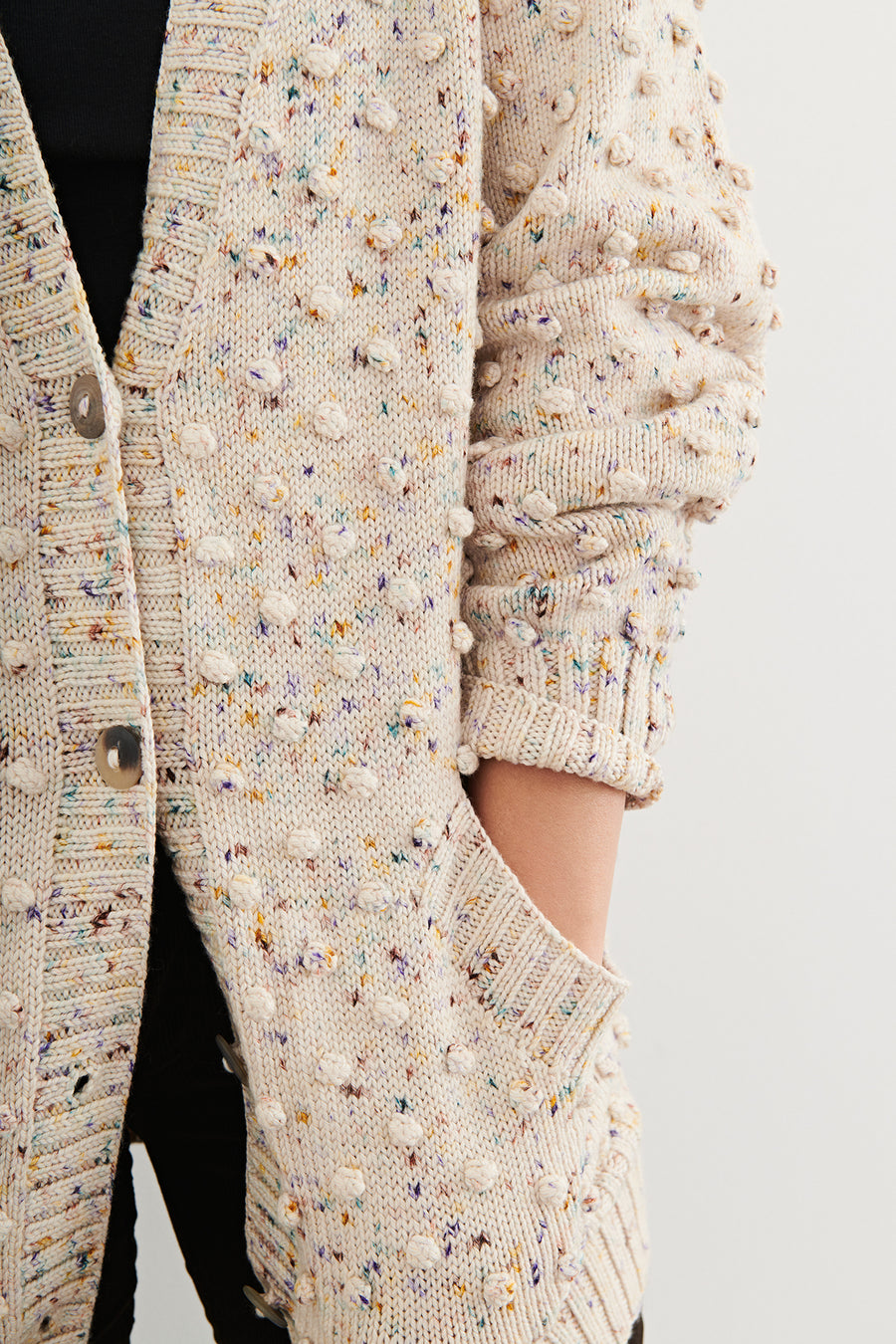 Adult Popcorn Long Cardigan
