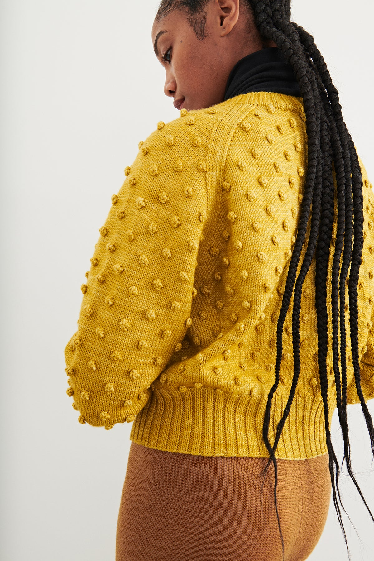 Adult Popcorn V-Neck Cardigan