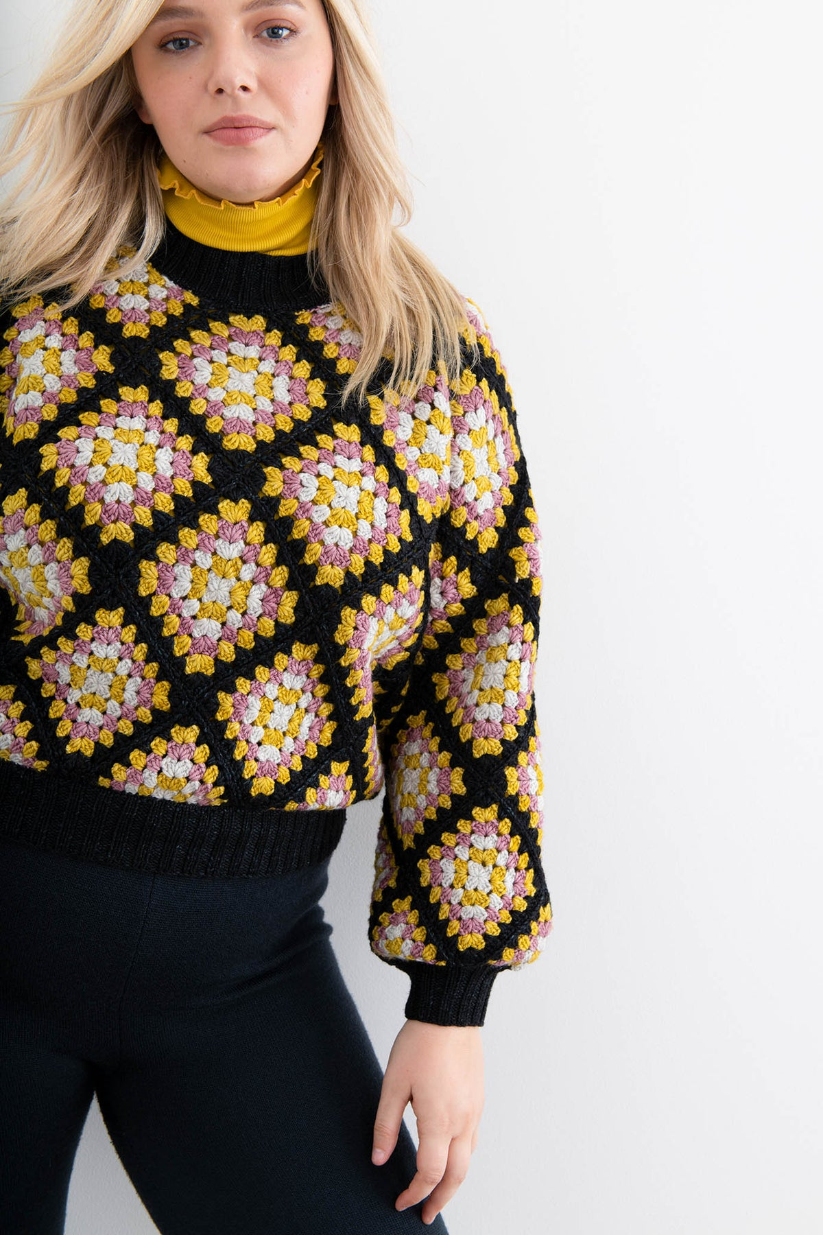 Adult Crochet Square Sweater