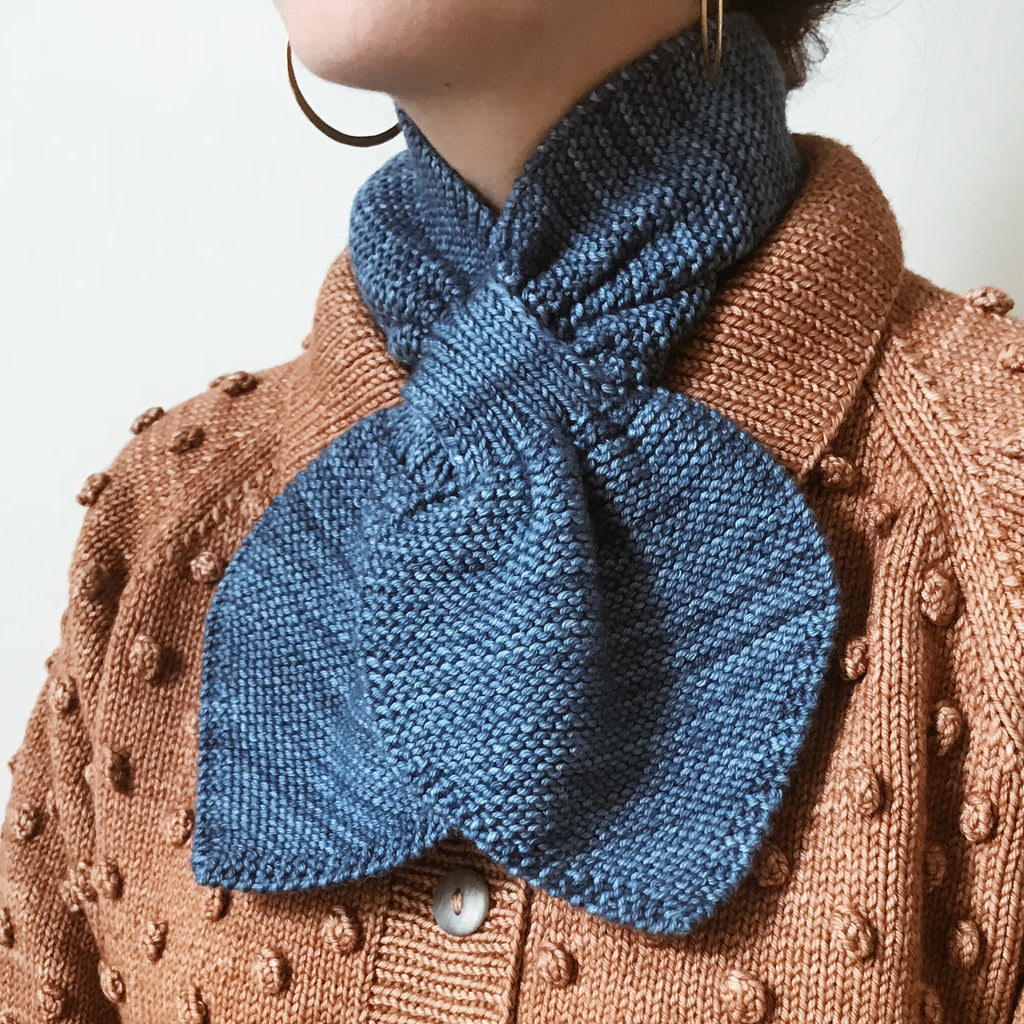 Adult Sledding Scarf / Cobalt