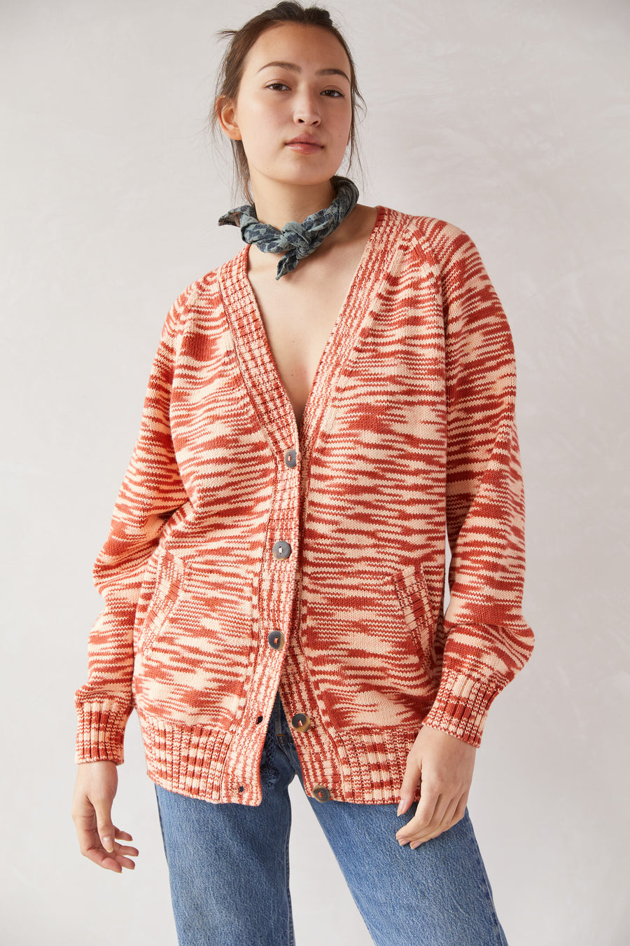 Adult Long Cardigan - Paprika Space Dye|Adult Long Cardigan - Paprika Space Dye_470_FPO.jpg