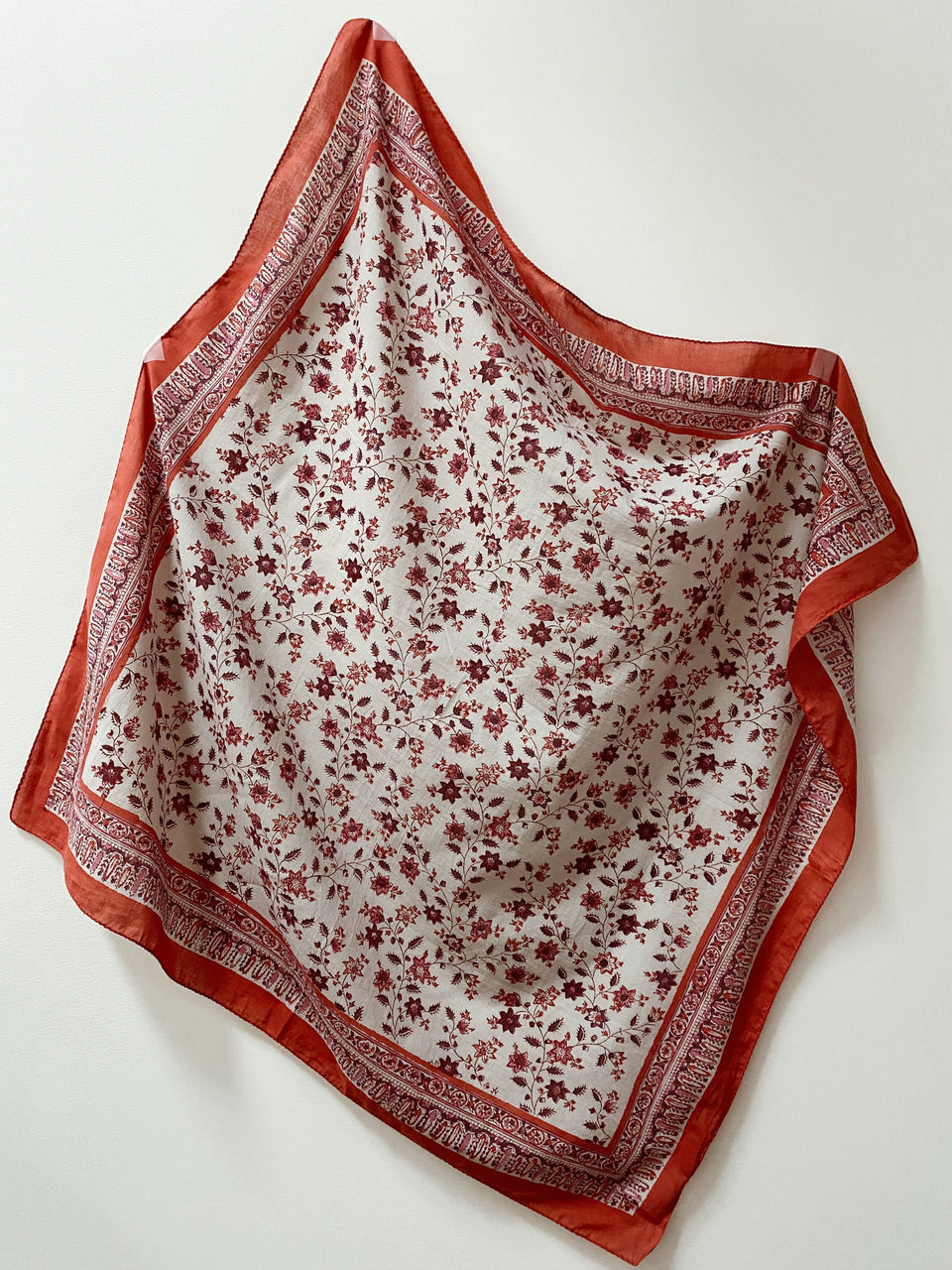 Block Printed Scarf - Petite Star Flower