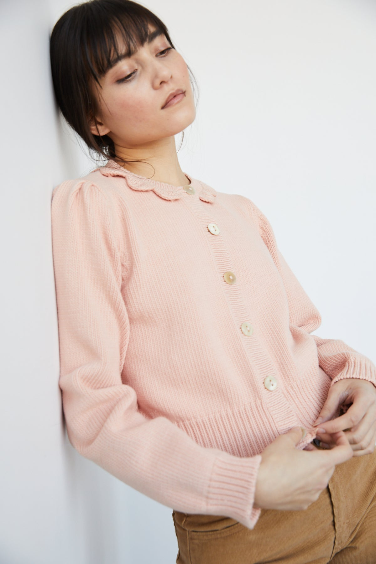 Adult Ellie Cardigan - Rose Quartz