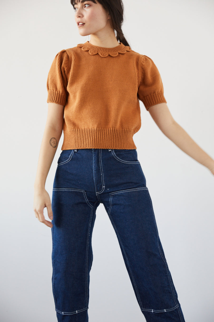 Adult Ellie Short Sleeve Pullover - Caramel