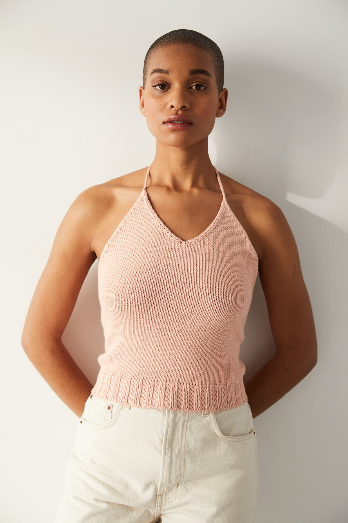 Adult Halter Top - Rose Quartz
