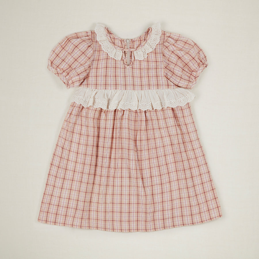 Hattie Dress - Pink Check