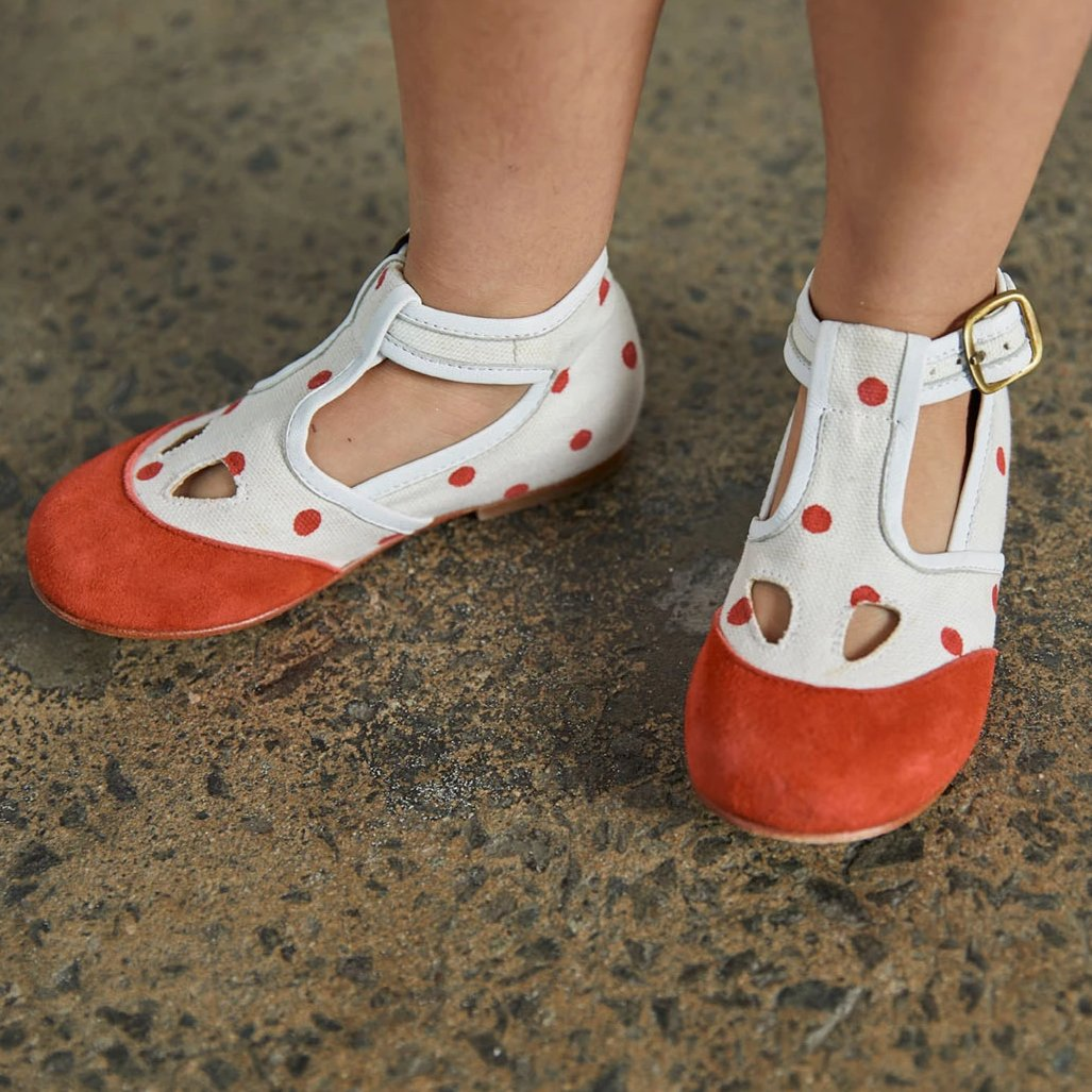 Elmwood T-Strap Shoes - Polka Dot