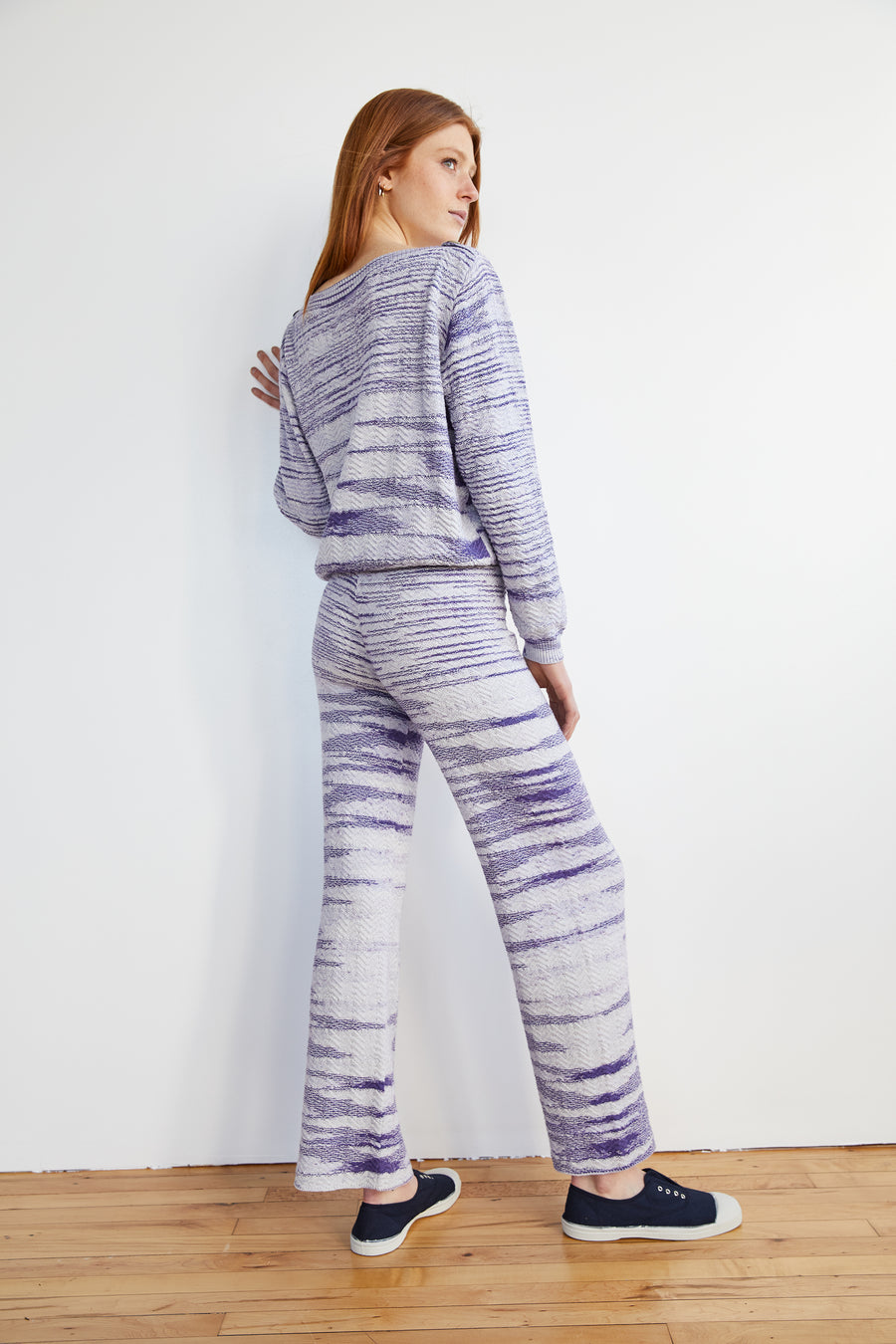 Adult Chevron Pant - Blue Space Dye