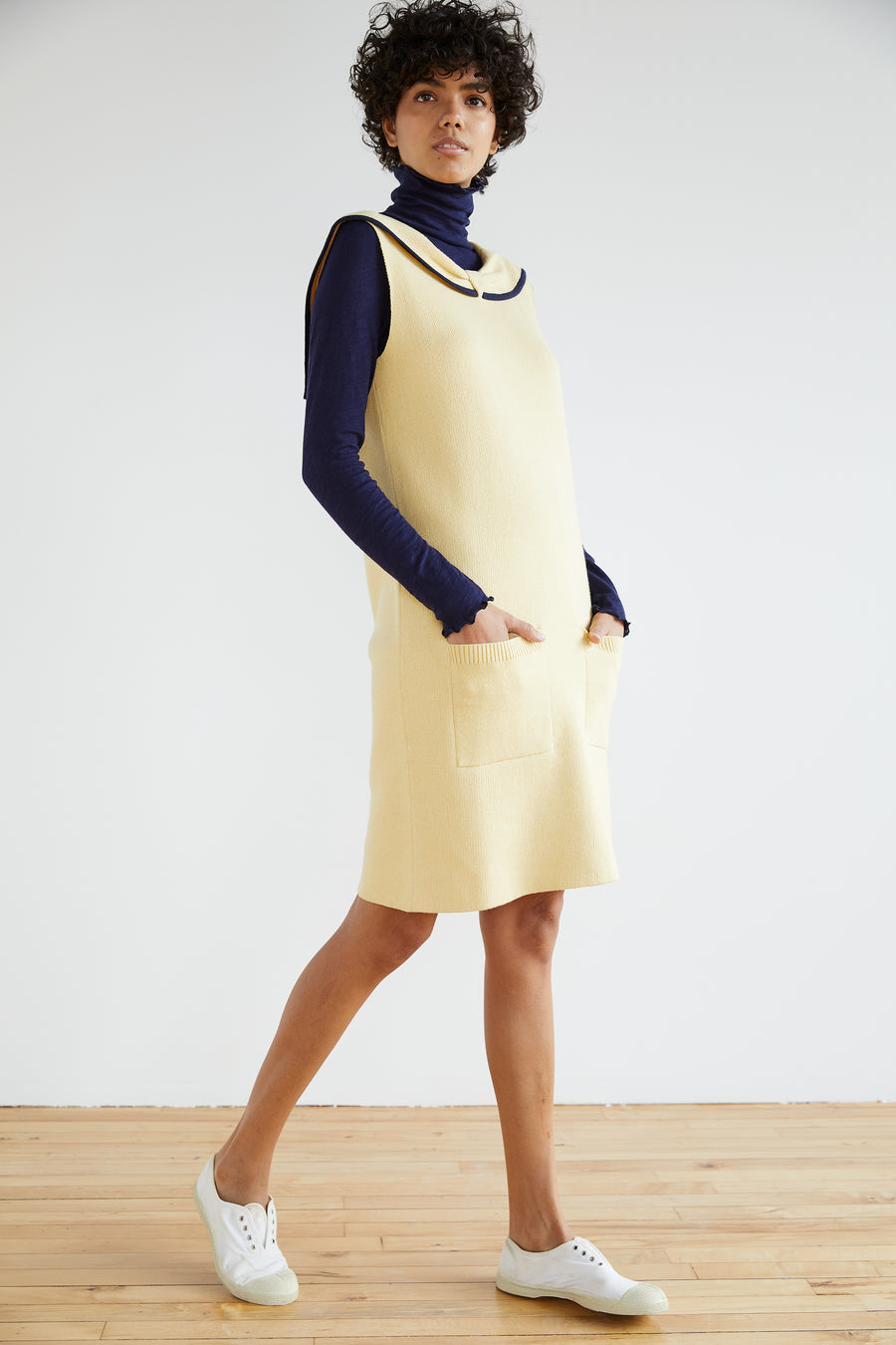 Adult Collar Straight Dress - Straw
