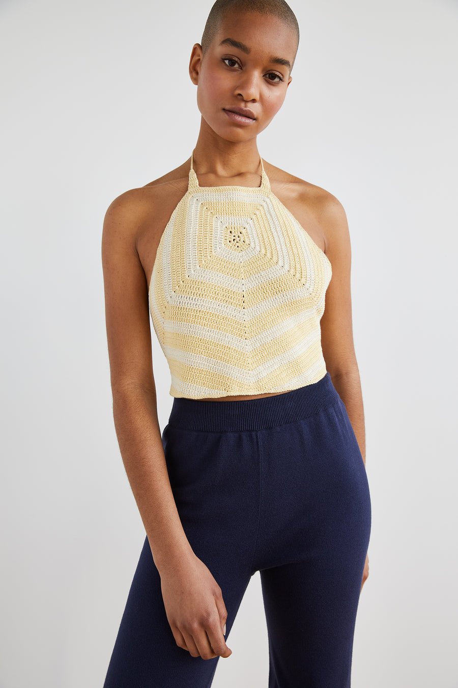 Adult Crochet Chevron Top - String