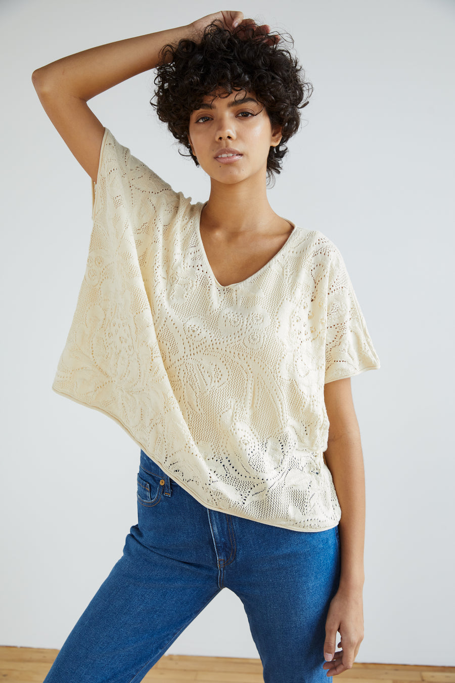 Adult Lace Cropped Tee - String