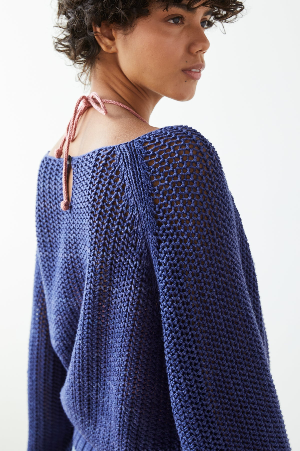 Adult Net Stitch Sweater - Blue Violet