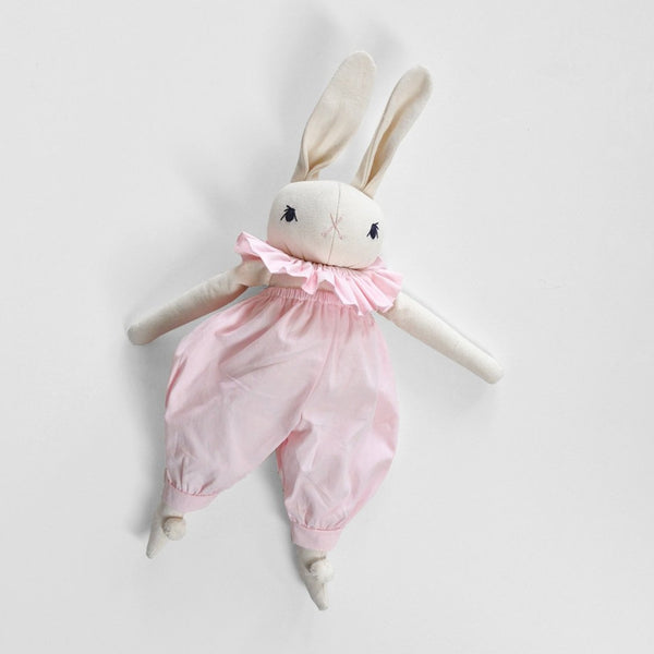 PDC Medium Rabbit in Ruffle Romper - Cream/Pink