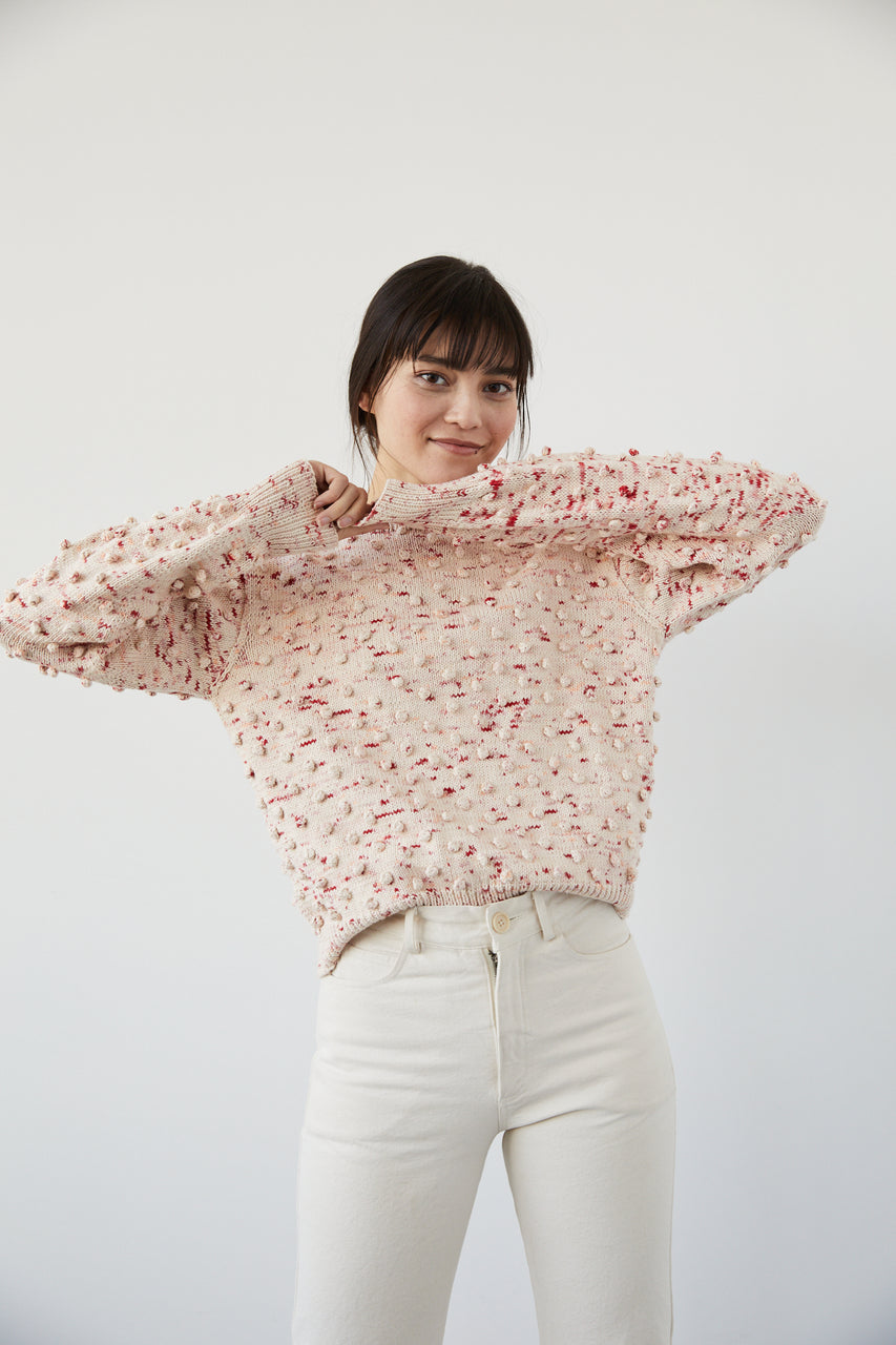 Adult Popcorn Crew Sweater - Poppy Confetti