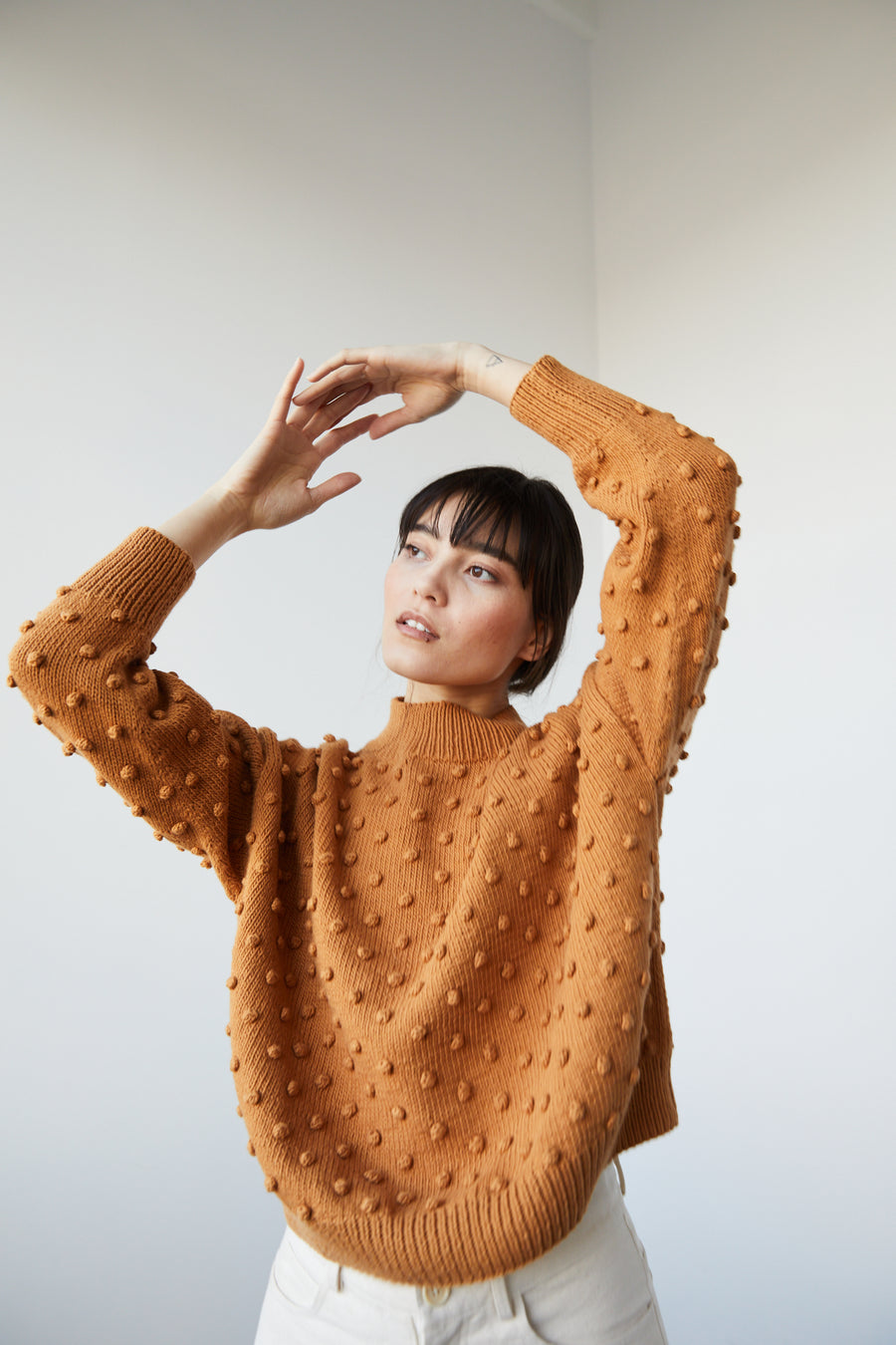 Adult Popcorn Sweater - Caramel