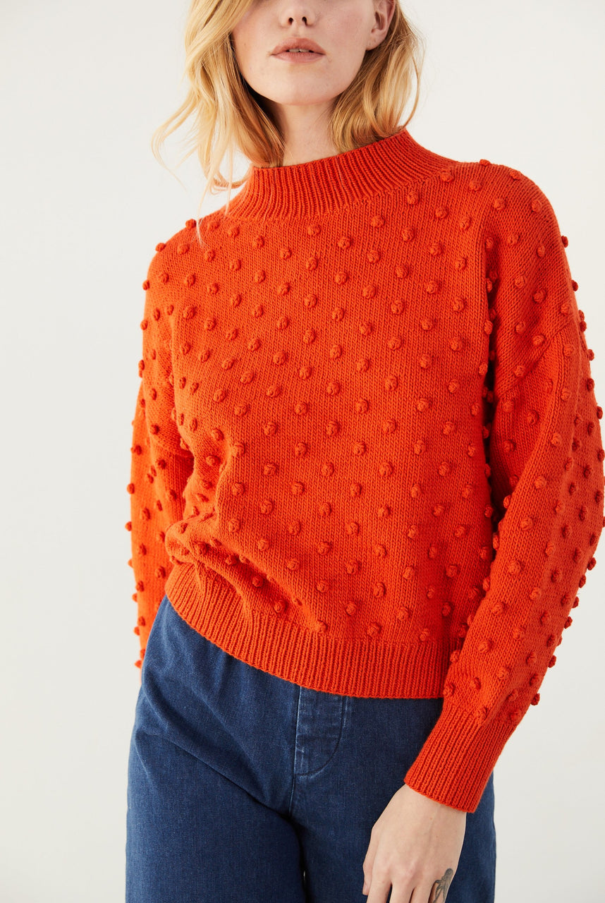 Adult Popcorn Sweater - Persimmon
